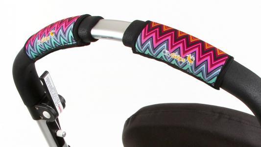 Чехлы Choopie CityGrips на ручки для универсальной коляски(320 ZigZag Color розовый) чехлы choopie citygrips на ручки для универсальной коляски 340 brown leopard коричневый