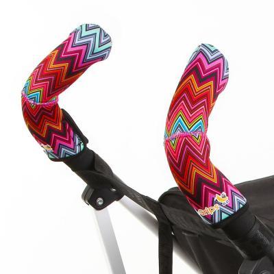 Чехлы Choopie CityGrips на ручки для коляски-трости(319 ZigZag Color красный) чехлы choopie citygrips на ручки для универсальной коляски длинные 502 zigzag color красный