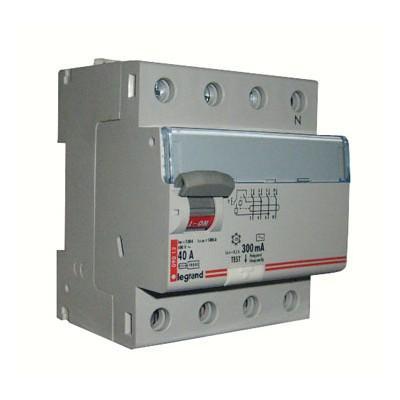 Legrand 411723 Выключатель дифференциального тока DX?-ID - 4П - 400 В~ - 40 А - тип AC - 300 мА - 4 модуля