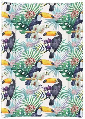 Купить Пеленальный матрас без изголовья на кровать 70см Ceba Baby Flora Fauna W-200 (tucan), рисунок, Матрасы