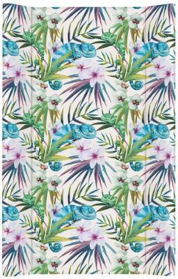 Купить Пеленальный матрас без изголовья на кровать 80 см Ceba Baby Flora Fauna W-210 (camaleon blanco), рисунок, Матрасы