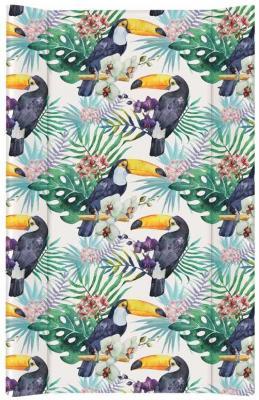 Купить Пеленальный матрас без изголовья на кровать 80 см Ceba Baby Flora Fauna W-210 (tucan), рисунок, Матрасы