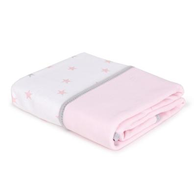 Купить Плед 90х100 см Ceba Baby(medium stars pink), розовый, 90 х 100 см, хлопок, Одеяла и пледы