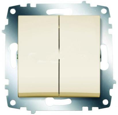 Выключатель ABB COSMO 619-010300-202 кремовый 2 кл цена