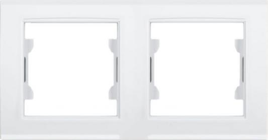 Рамка ZAKRU 601854 BIEN 2 поста (Т.Белый) пластик