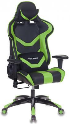 Кресло игровое Бюрократ CH-772N/BL+GREEN две подушки черный/зеленый искусственная кожа