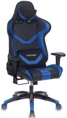 Кресло игровое Бюрократ CH-772N/BL+BLUE две подушки черный/синий искусственная кожа (пластик черный) ch 778 bl blue