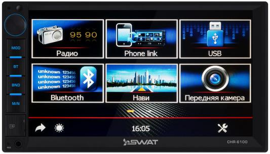 Автомагнитола Swat CHR-6100 2DIN 4x50Вт автомагнитола kenwood dmx110 2din 4x50вт