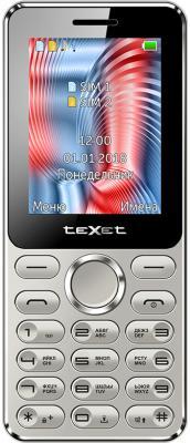 Мобильный телефон Texet TM-212 серый 2.4 мобильный телефон texet tm 101 черный