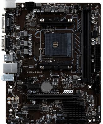 Материнская плата MSI A320M PRO-E Socket AM4 AMD A320 2xDDR4 1xPCI-E 16x 2xPCI-E 1x 4 mATX Retail msi original zh77a g43 motherboard ddr3 lga 1155 for i3 i5 i7 cpu 32gb usb3 0 sata3 h77 motherboard