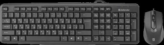 Фото - Проводной комплект клавиатура+мышь Defender Dakota C-270 RU, черный (45270) клавиатура и мышь defender dakota c 270 black usb