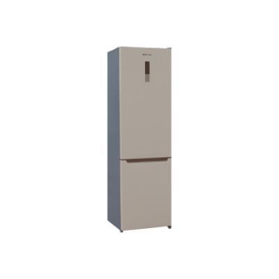 Холодильник Shivaki BMR-2017DNFBE бежевый (двухкамерный) двухкамерный холодильник shivaki bmr 1881 nfx