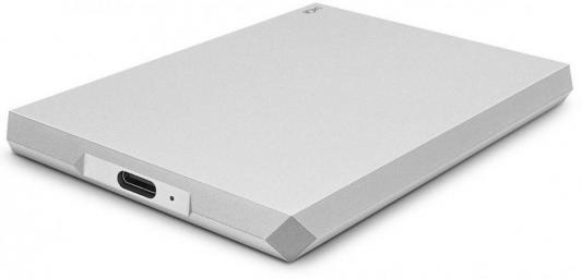 Накопитель  жестком магнитном диске LaCie Внешний жесткий   STHG1000400 1TB  Mobile Drive 2.5 USB 3. TYPE  Moon Silver