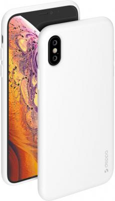 Накладка Deppa Gel Color Case для iPhone X iPhone XS белый 85360 цена и фото