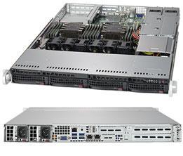 Корпус компьютерный Supermicro Black 1U SC815 WIO Chassis w/ Redundant 750W(24 Pin PDB) 1u chassis 420mm long can be used for idc routers 1u servers