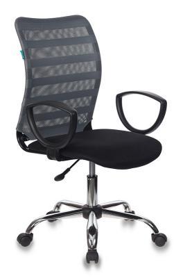 Картинка для Кресло для геймеров Бюрократ TW-32K03 TW-11 чёрный серый (CH-599AXSL/32G/TW-11)