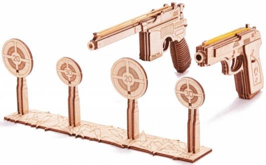 Купить Набор WOOD TRICK 1234-10/21 Пистолеты с мишенью, Для мальчиков, Прочие