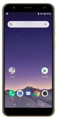 """Смартфон ARK Benefit M9 16Gb 2Gb золотистый моноблок 3G 4G 2Sim 5.5"""" 720x1440 Android 8.1 8Mpix 802.11 a/b/g/n BT GPS GSM900/1800 GSM1900 TouchSc MP3 FM A-GPS microSD"""