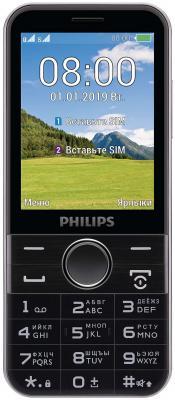 Мобильный телефон Philips E580 Xenium черный моноблок 2Sim 2.8 240x320 2Mpix BT GSM900/1800 GSM1900 MP3 microSD max32Gb мобильный телефон philips e116 xenium 3g