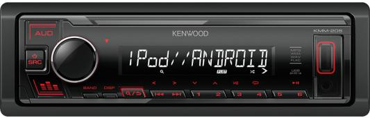 Автомагнитола Kenwood KMM-205 1DIN 4x50Вт автомагнитола kenwood kmm 105ry 1din 4x50вт