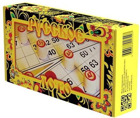 Купить Настольная игра ДЕСЯТОЕ КОРОЛЕВСТВО 01729 Лото Русское желтое, Десятое королевство, 16 ? 30.5 ? 6 см, Лото, домино, шашки и шахматы
