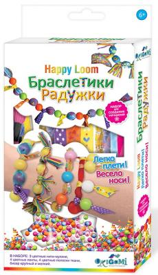 Купить Набор для создания бижутерии ORIGAMI Браслетики-радужки от 6 лет, Бисероплетение и украшения своими руками