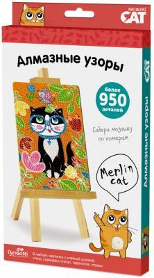 Купить Набор ORIGAMI 03208 Алмазные узоры. Merlin Cat, Ассорти наборов для творчества