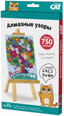 Купить Набор ORIGAMI 03213 Алмазные узоры. Sweet cat's home, Ассорти наборов для творчества