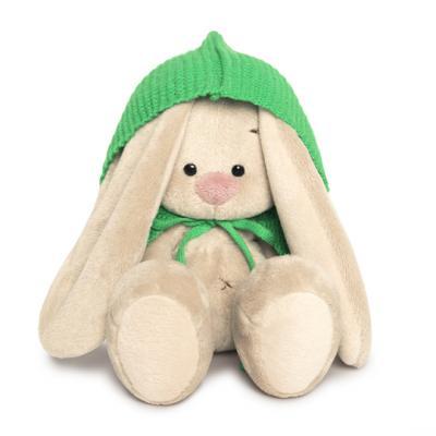 Мягкая игрушка зайка BUDI BASA Зайка Ми в зеленом пончо искусственный мех 15 см зайка ми мягкая игрушка зайка ми балерина 18 см 1157444