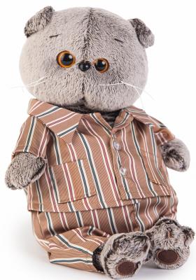 Мягкая игрушка BUDI BASA Ks30-065 Басик в шелковой пижамке 30 см budi basa мягкая игрушка budi basa кот басик в шелковой пижаме 19 см