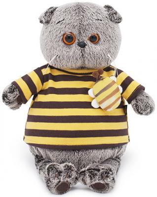 Фото - Мягкая игрушка BUDI BASA Ks30-092 Басик в полосатой футболке с пчелой 30 см budi basa мягкая игрушка budi basa кот басик в полосатой футболке с пчелой 19 см