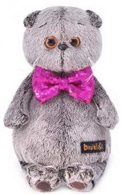 Мягкая игрушка кот BUDI BASA Басик в галстуке-бабочке в пайетках искусственный мех 30 см мягкая игрушка в пайетках сова 10см