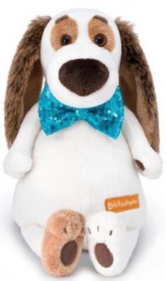 Мягкая игрушка собака BUDI BASA Бартоломей в галстуке-бабочке в пайетках искусственный мех 27 см мягкая игрушка в пайетках сова 10см