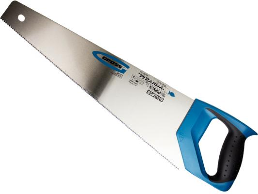 цена на Ножовка GROSS 24103 по дереву piranha 450мм 11-12 tpi зуб - 3d каленый зуб 2-х комп. рук-ка