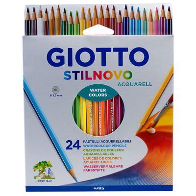 Набор цветных карандашей GIOTTO Акварельные деревянные 24 цв 24 шт акварельные набор карандашей акварельных mondeluz 24 цв