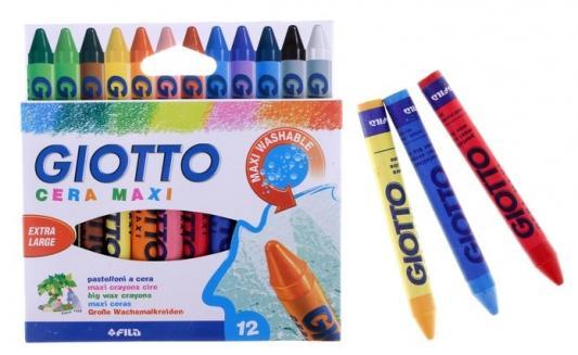 Набор карандашей GIOTTO Восковые утолщенные 12 цв 12 шт 100 мм восковые набор восковых карандашей 24 цв круглые диаметр 8 мм
