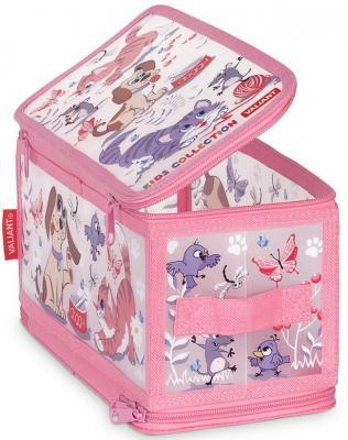 Коробка для хранения VALIANT KCCD-ZIP-S Киски и собачки 30*15*15 см цена в Москве и Питере