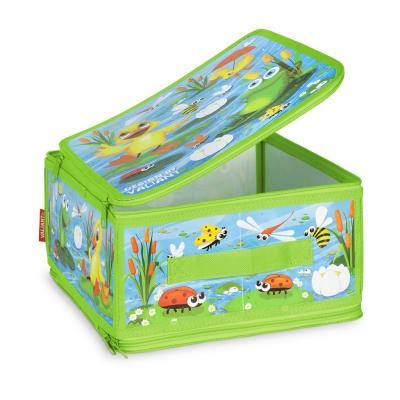 Коробка для хранения VALIANT KCDF-ZIP-M Утята и лягушата 30*28*15 см цена в Москве и Питере