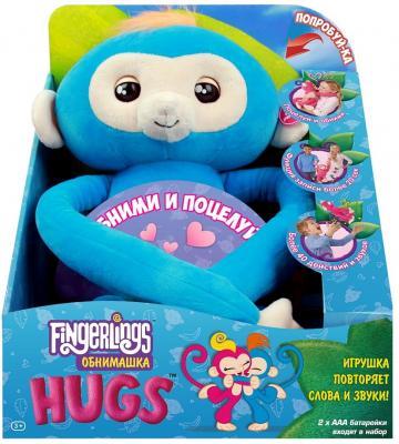 Мягкая игрушка FINGERLINGS 3531 Обезьянка обнимашка голубая