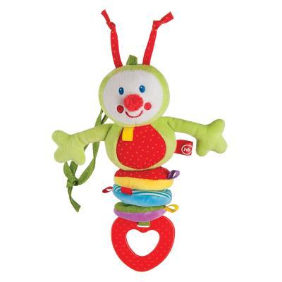 Интерактивная игрушка Happy Baby CHATTY CATERPILLAR с рождения, разноцветный, полиэстер, унисекс, Игрушки-подвески  - купить со скидкой