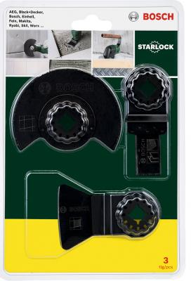 Набор оснастки для МФИ BOSCH 2 607 017 324 для сантехнических работ Starlock набор bosch фонарь gli deciled 0 601 4a0 000 набор бит 2 607 017 319