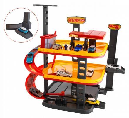 Купить Игровой набор TEAMSTERZ 1415944.00 Многоуровневый гараж Скайлайн, Пластик, металл, Для мальчиков, Гаражи, парковки, треки