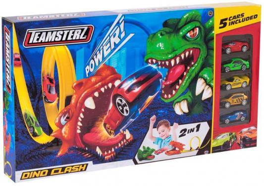 Купить Набор машинок TEAMSTERZ Дино разноцветный, Детские модели машинок