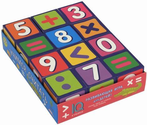 Купить Кубики АЙРИС-ПРЕСС 26873 Умные кубики в поддончике. 12 штук. Учимся считать, Кубики и стенки