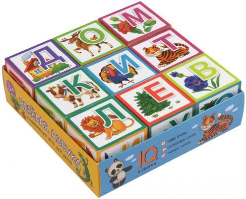 Купить Кубики АЙРИС-ПРЕСС 26877 Умные кубики в поддончике. 9 штук. Веселая азбука, Кубики и стенки