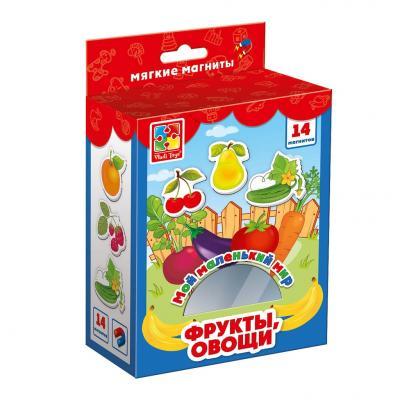 Магнитная игра Vladi toys развивающая Овощи, фрукты цена