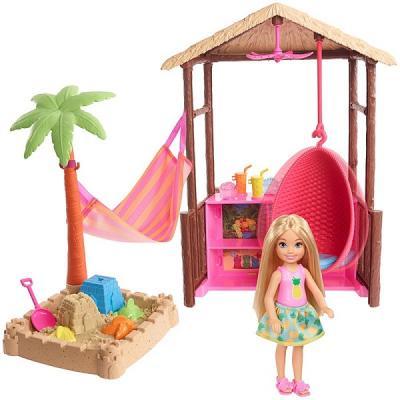Купить Barbie® Челси и хижина из серии Путешествия, Barbie (Mattel), пластик, Куклы Barbie