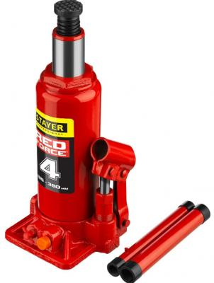 Домкрат STAYER 43160-4_z01 гидравлический бутылочный red force 4т 195-380мм