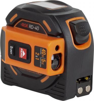 Дальномер RGK RD40 лазерный 40м с рулеткой 5м лазерный дальномер rgk d50