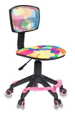 Кресло детское Бюрократ CH-299-F/ABSTRACT спинка сетка абстракция кресло детское бюрократ ch 299 на колесиках ткань мультиколор [ch 299 abstract]